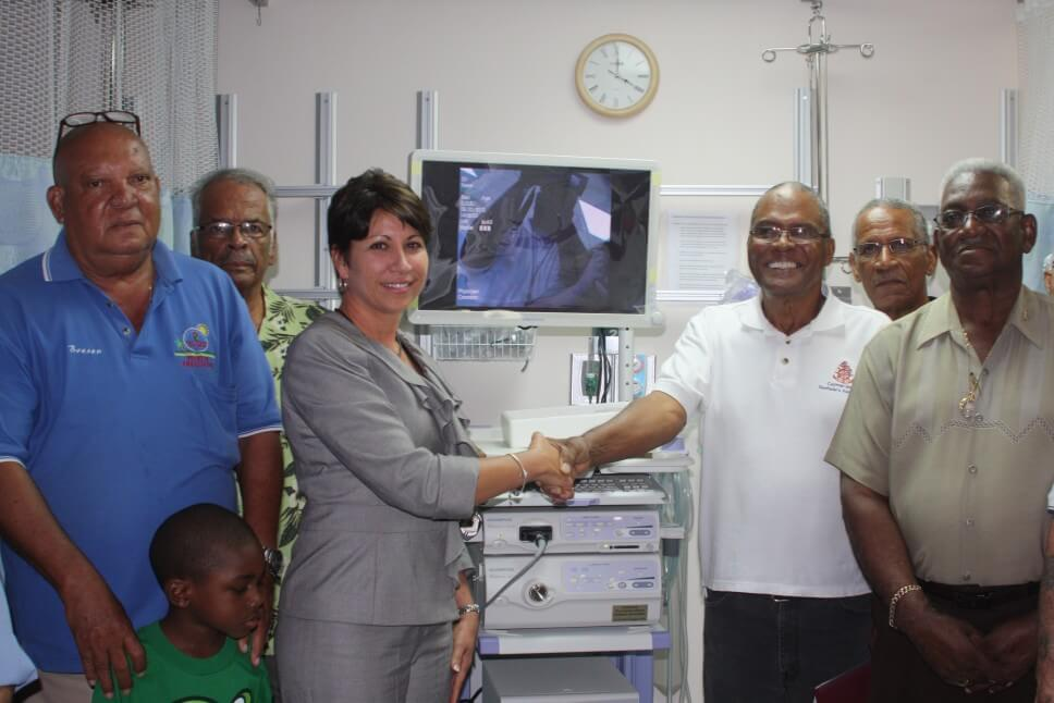 Seafarers donate 'Sally' robotic medical instrument to hospital
