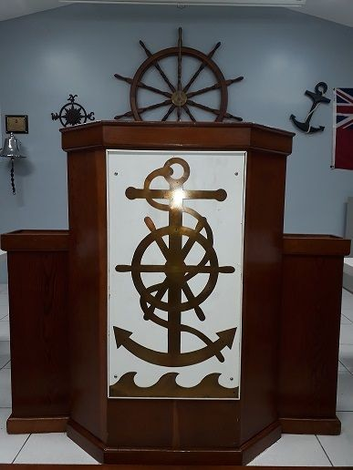 BP 2017 - Trim repaired on Pulpit logo