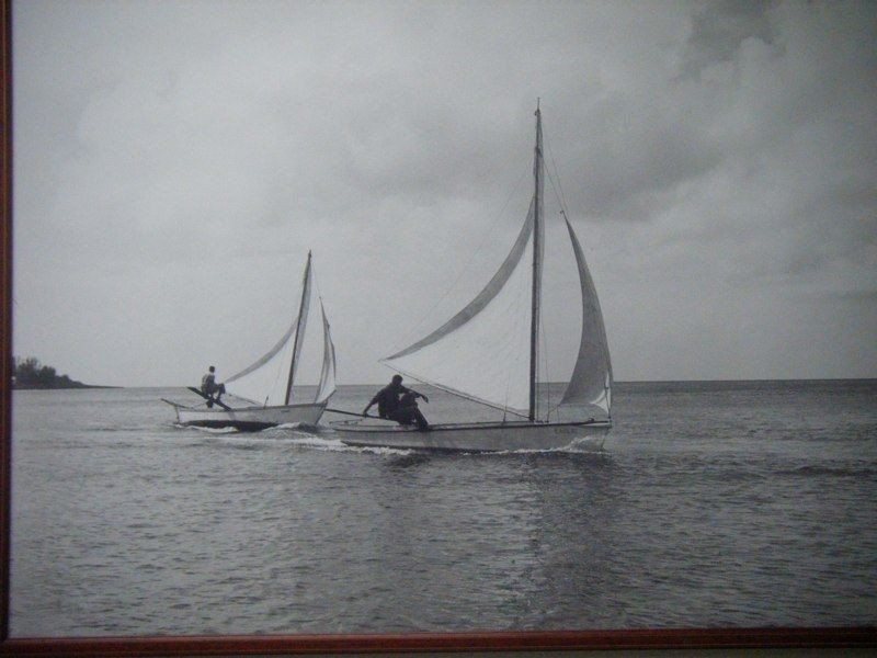 Catboat Sailors Two