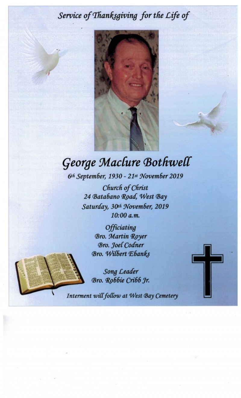 George Maclure Bothwell - Thanksgiving - November 2019