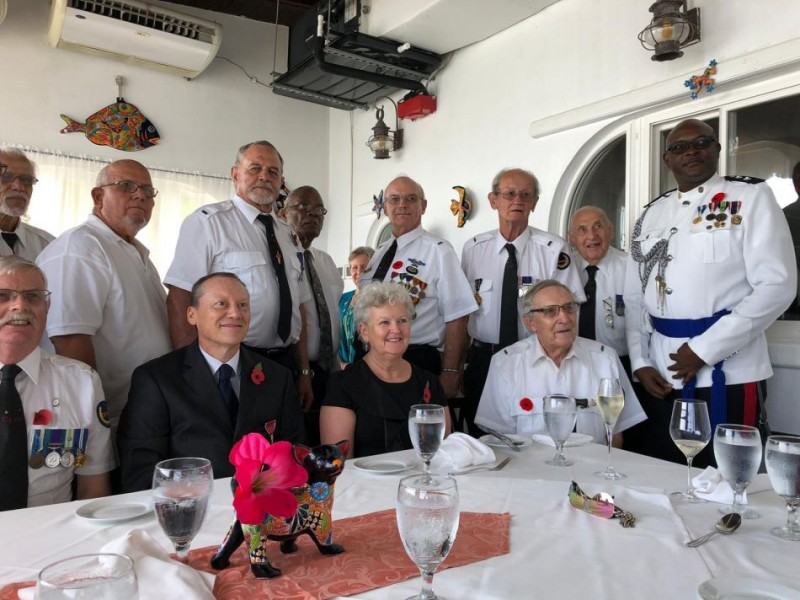 H.E. the Governor His wife Veterans and Seafarers - Remembrance Day 2019