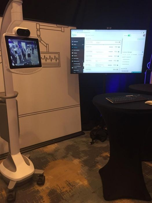 InTouch Health RP Lite 4 Sally next generation robot technology training at the inTouch Health Technology Forum Conference Santa Barbara California July 2019