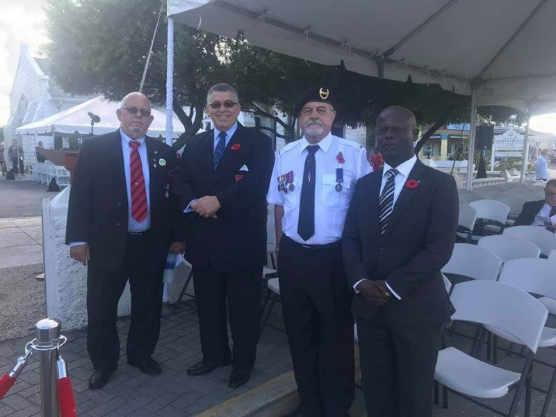 Remembrance Day 2019 with Mr. McKeeva Bush Speaker of the House